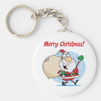 Holiday Greetings With Santa Claus Key Chain