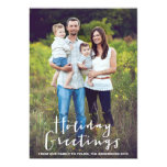 "HOLIDAY HAND LETTERING | HOLIDAY PHOTO CARD 5"" X 7"" INVITATION CARD"