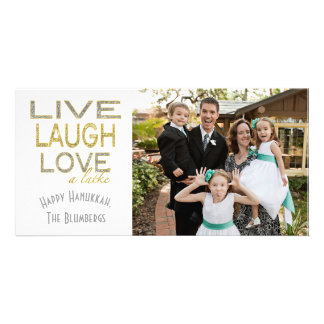 "Holiday Hanukkah Card ""Love a Latke"" Photo Personalized Photo Card"