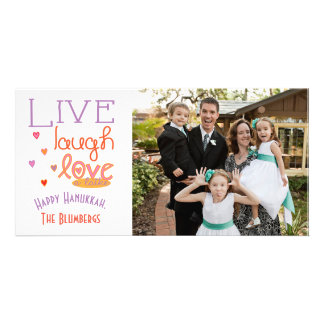 "Holiday Happy Hanukkah Card ""Love a Latke"" Photo Cards"