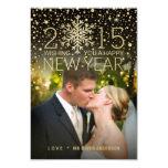 Holiday Happy New Year Snowflake Confetti Photo 9 Cm X 13 Cm Invitation Card