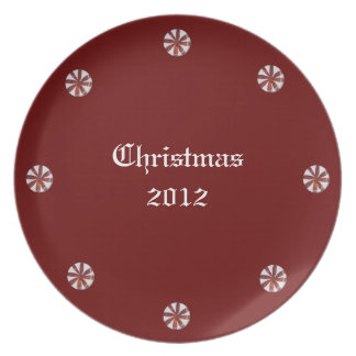 Holiday Hard Peppermint Candy Party Plates