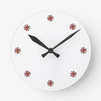 Holiday Hard Peppermint Candy Wall Clock