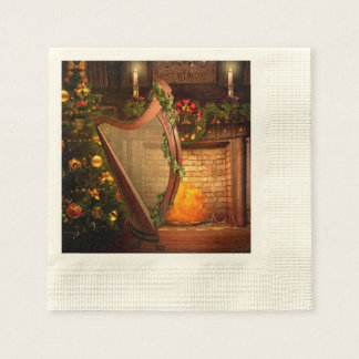 Holiday Harp Paper Napkins