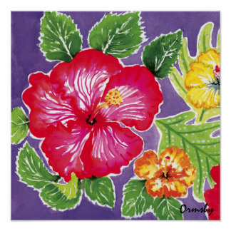Holiday Hibiscus poster