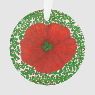 Holiday Hibiscus & Vines Christmas Ornament