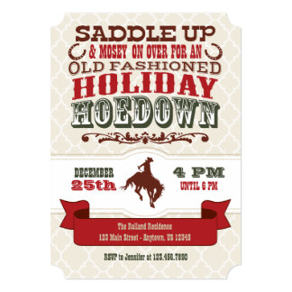 Holiday Hoedown Christmas Party Invitation