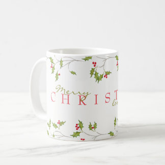 Holiday Holly Editable Mug