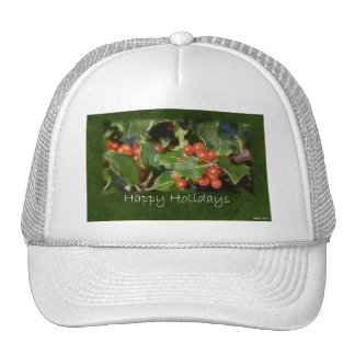 Holiday Holly - Happy Holidays Trucker Hats