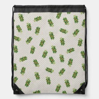 Holiday Holly Pattern Rucksack