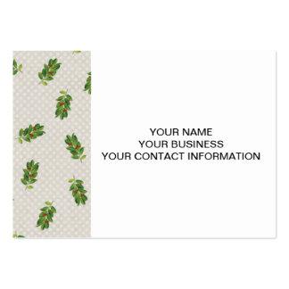 Holiday Holly Pattern Pack Of Chubby Business Cards