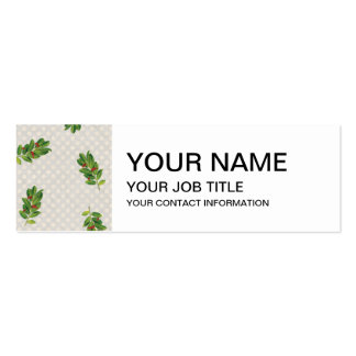 Holiday Holly Pattern Pack Of Skinny Business Cards