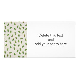Holiday Holly Pattern Customized Photo Card