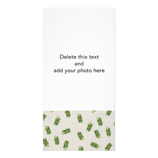 Holiday Holly Pattern Photo Cards