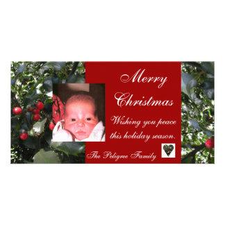 Holiday Holly Photo Card
