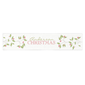 Holiday Holly Table Runner