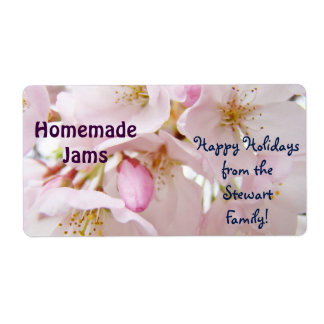 Holiday Homemade Jams Jar Labels From Family