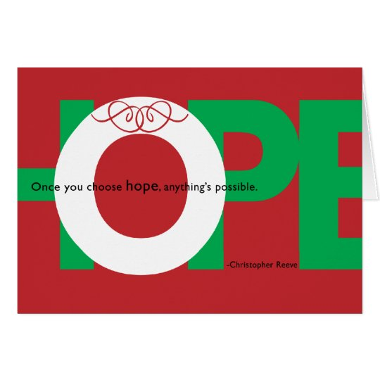 Holiday HOPE card