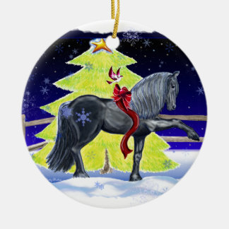 Holiday Horse Ceramic Ornament