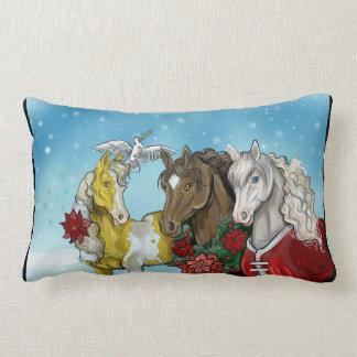 Holiday Horses~pillow Lumbar Cushion
