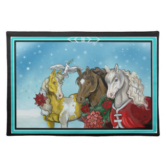 Holiday Horses placemat
