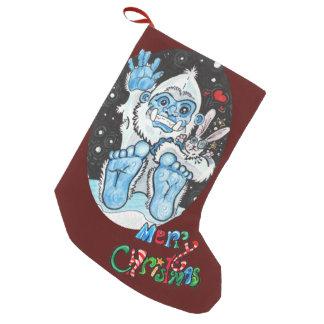 Holiday Hugs Yeti! Small Christmas Stocking