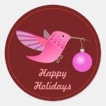 Holiday Hummingbird Sticker