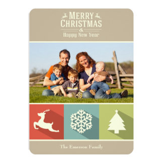 Holiday Icons (Beige) Card