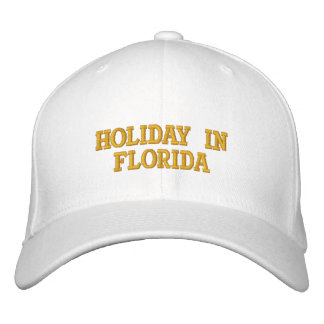 Holiday In Florida Embroidered Hats