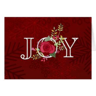 Holiday Joy Folder Photo Card