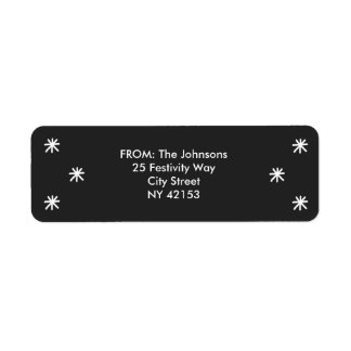 Holiday Joy Return Address Labels - Black
