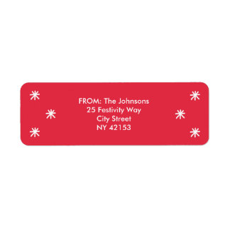 Holiday Joy Return Address Labels - Red