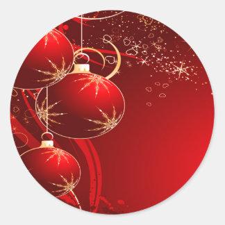 Holiday Joy_ Sticker_by Elenne Round Sticker