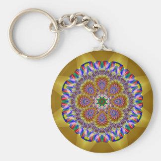 Holiday Kaleidoscope #2 Basic Round Button Key Ring