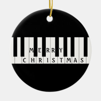 Holiday Keys Piano Ceramic Ornament