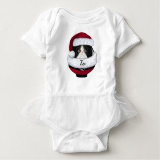 Holiday Kitten Santa Hat Baby Shirt