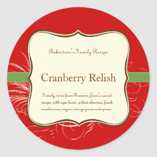 Holiday Label or Place Setting Sticker