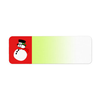 Holiday Label Red Snowman Return Address Label
