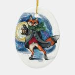 Holiday Lantern Fox Chirstmas Decoration!