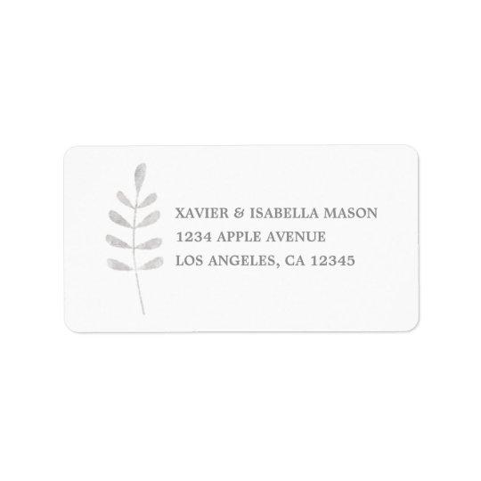 Holiday Leaf Address Label
