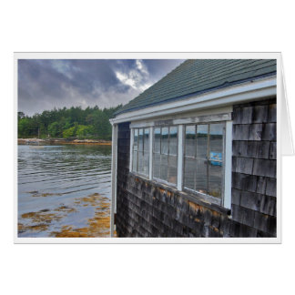 Holiday Ledges Boathouse Greeting Card