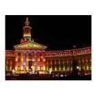 Holiday Lights Denver Civic Centre Postcard