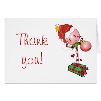 Holiday Lolly Thank You Card