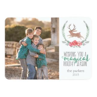 Holiday Magic | Woodland Jackalope Photo Cards 13 Cm X 18 Cm Invitation Card