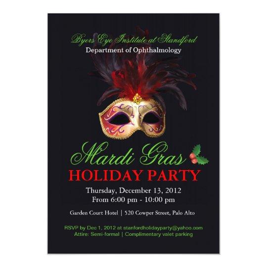 Holiday Masquerade Invitation