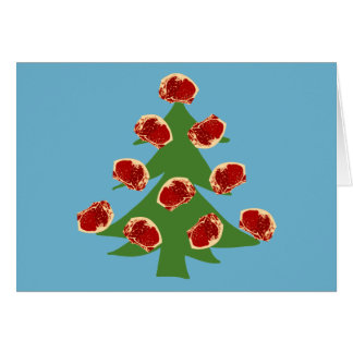 Holiday Meat Tree Greeting Card