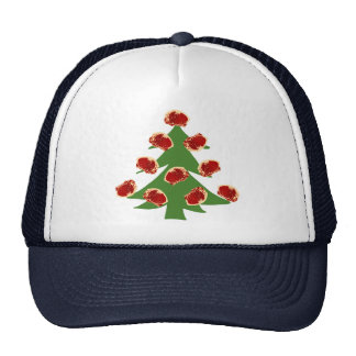 Holiday Meat Tree Mesh Hats