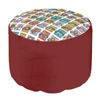 Holiday Memories Cushion Round Pouffe