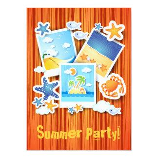 "Holiday memories, invitation 5.5"" x 7.5"" invitation card"