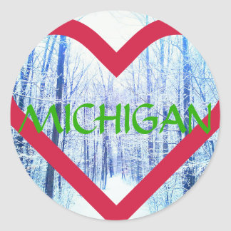 holiday michigan sticker